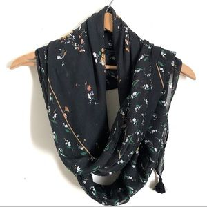 Fatface Sheer Scarf Windswept Posy Square NWT